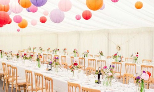 An image of tables and chairs for furniture hire by Big Top Marquees