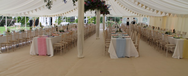 An image showing Big Top Marquees Wedding Marquees in Northampton with carpet