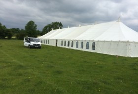 An image of a Large Marquee Setup in Rushden