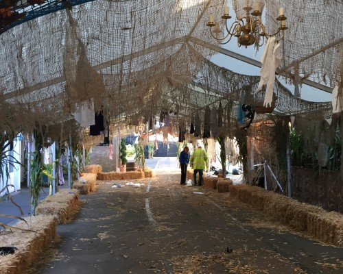 An image showing spooky decor for a celebration hired by Big Top Marquees