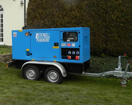 An image of a Generator for hire used for marquees