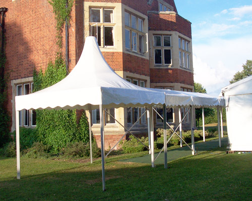 An image of a purpose built marquee entrance from Big Top Marquees