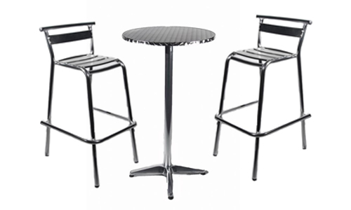 An image of Bar stools and pousers for marquee furniture hire by Big top Marquees