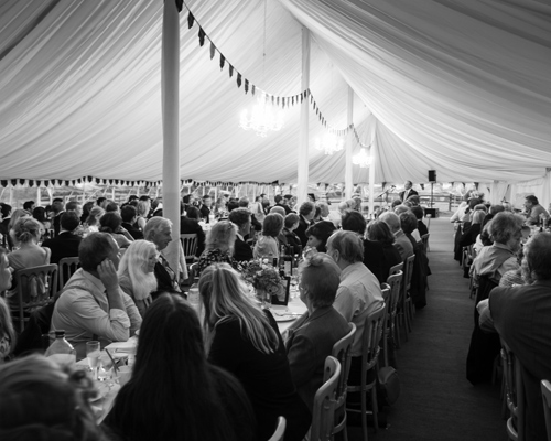 An image of a Wedding Dining scene inside a marquee in Kettering