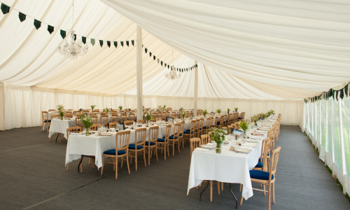 An image showing Marquee Furniture Hire in Northampton by Big Top Marquees