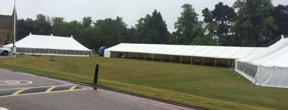 An image of a marquee being set up by Big Top Marquees