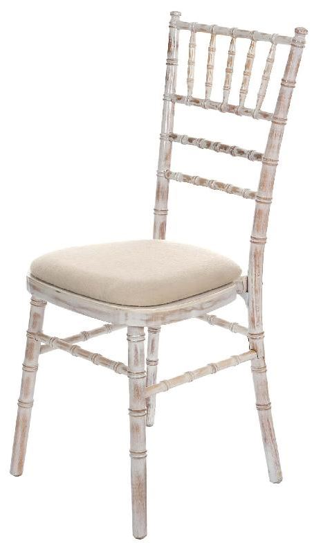 An image of a limewash wooden chair available for hire from Big Top Marquees.