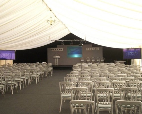 An image of marquee used for corporate events