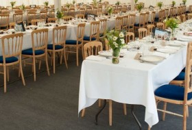 An image showing wedding marquee flooring hired by Big Top Marquees in Bedford, Northamptonshire