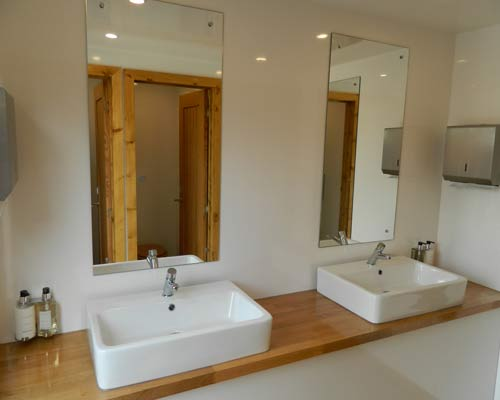 An image of the toilet Interior of a marquee hired from Big Top Marquees