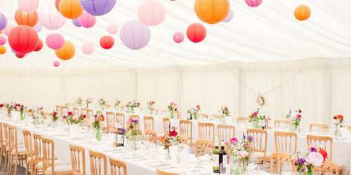 An image showing wedding furniture hired from Big top Marquees in Bedford.