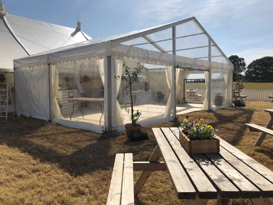 a lovely wedding marquee