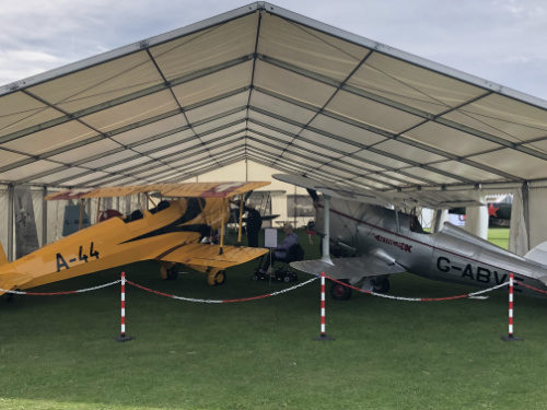 planes in marquee for LAA